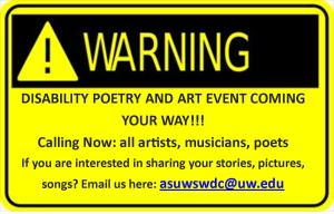 Warning Sign: Disability Poetry Event Coming Your Way